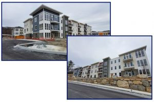 Exterior of The Residences at Quarry Walk in Oxford, CT